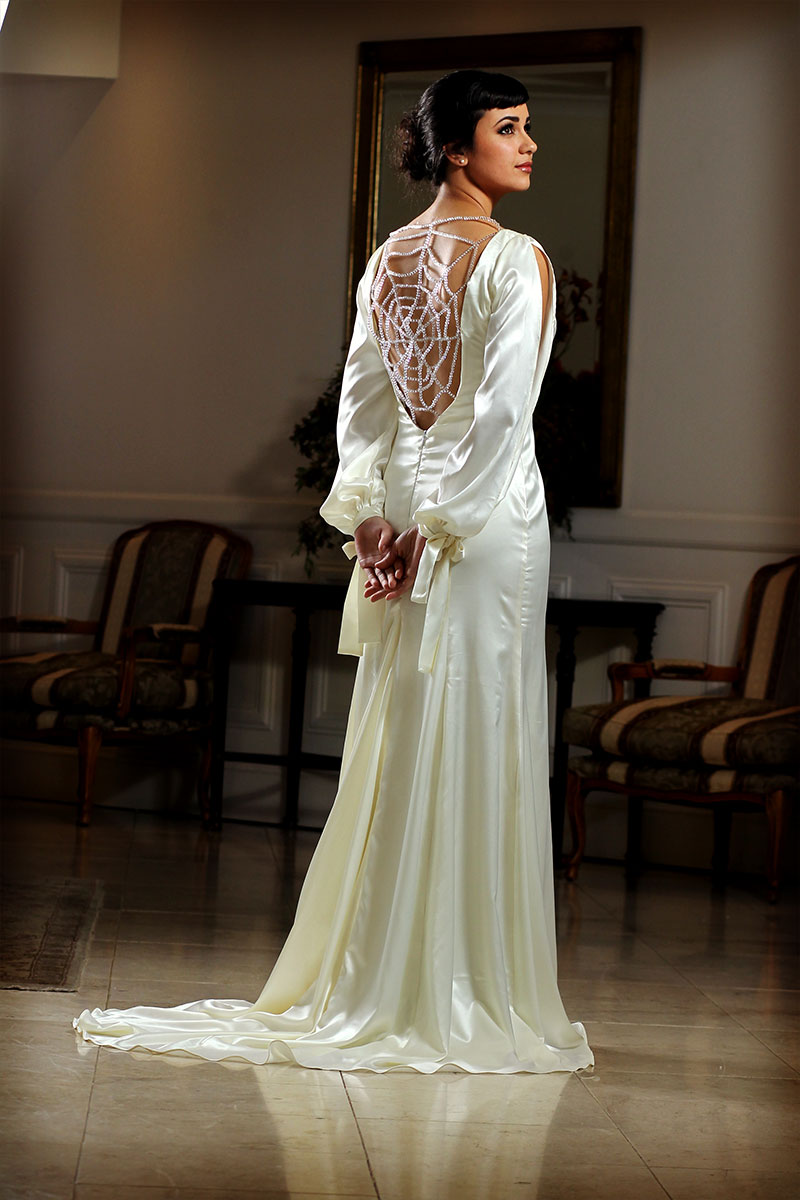 White Tail Evening Dress
