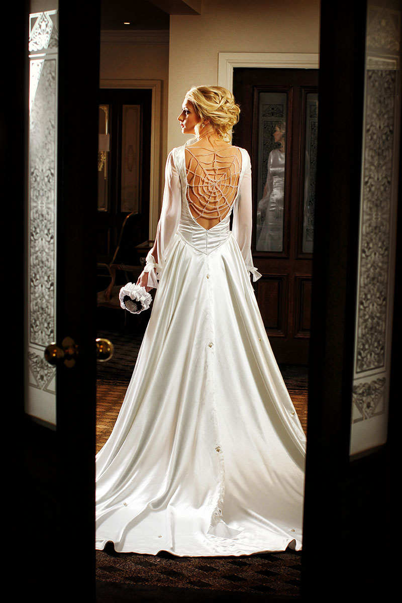 White Flower Wedding Dress